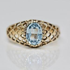 My Vintage aquamarine Mash Gold Ring